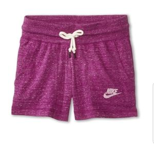 Nike Girls' Drawstring Organic Cotton Gym Shorts